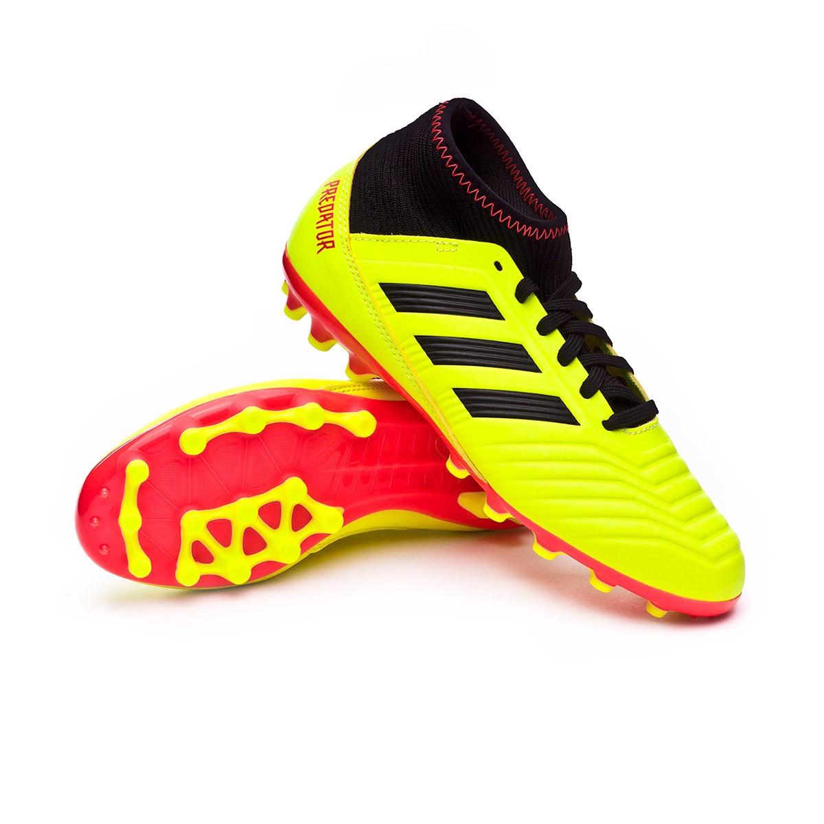 ee6666af43a Football Boots adidas Kids Predator 18.3 AG Solar yellow-Black-Solar ...