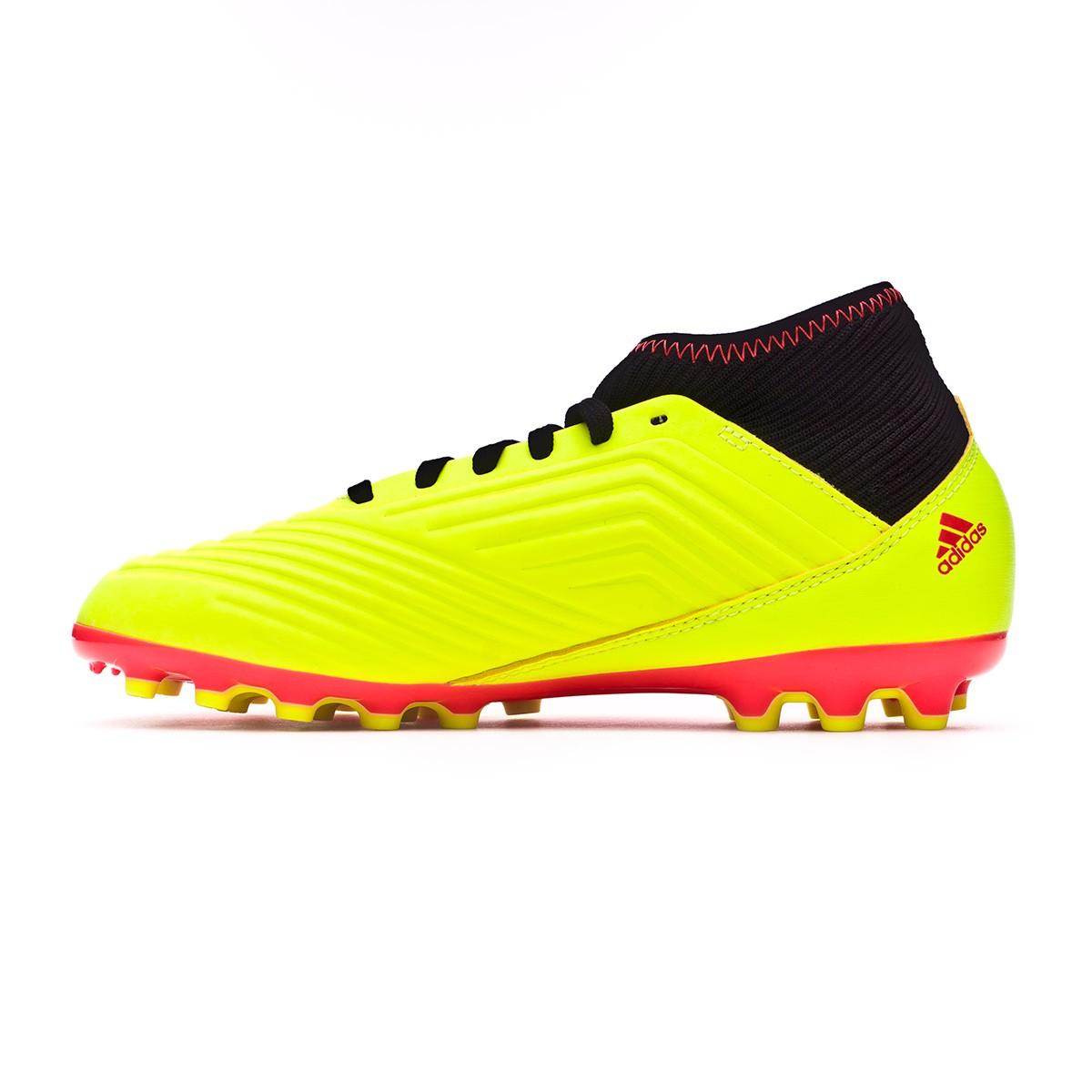 274d07ed549 Zapatos de fútbol adidas Predator 18.3 AG Niño Solar yellow-Black-Solar red  - Tienda de fútbol Fútbol Emotion