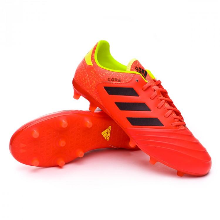 Chuteira adidas Copa 18.2 FG Solar red-Black-Solar yellow - Loja de ... f024969998b56