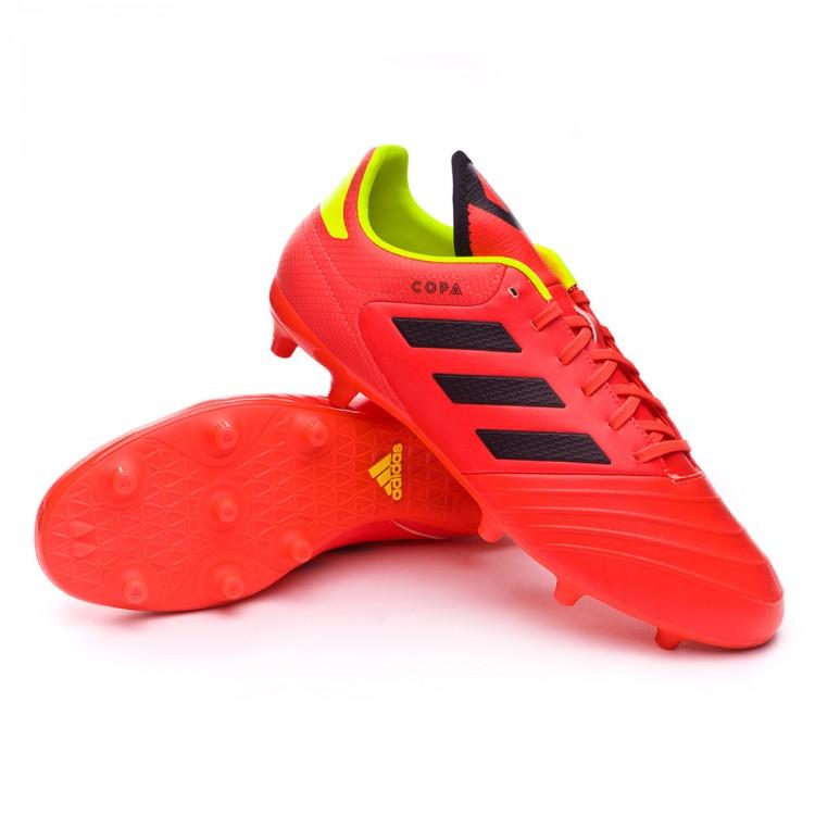 914207b0dae8f Zapatos de fútbol adidas Copa 18.3 FG Solar red-Black-Solar yellow ...