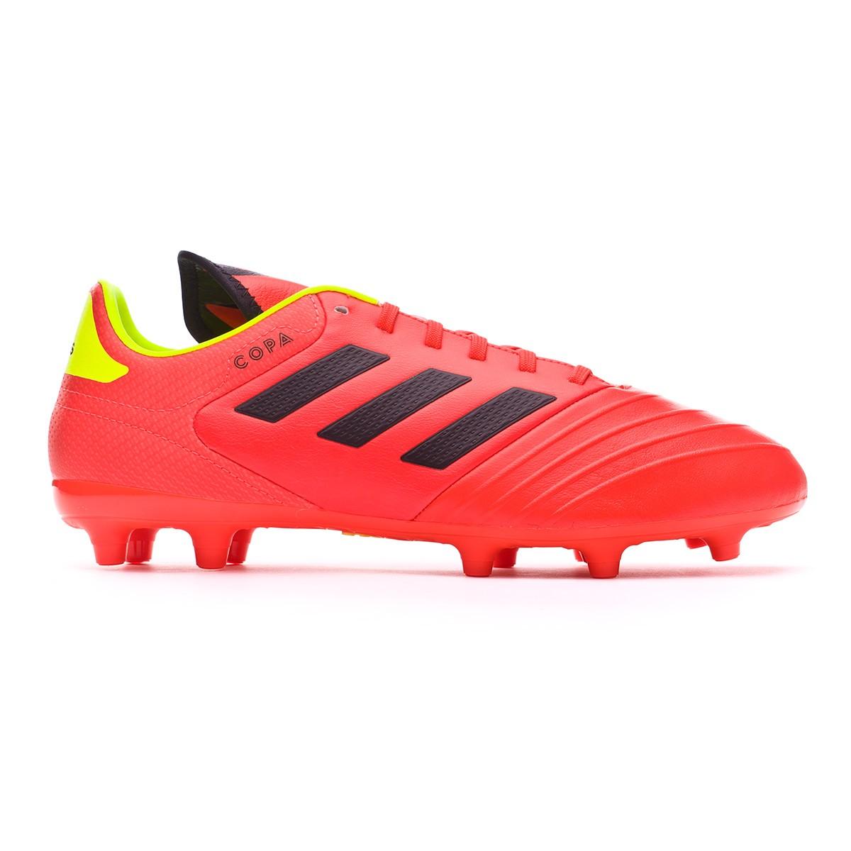 c8112857f52 Football Boots adidas Copa 18.3 FG Solar red-Black-Solar yellow - Football  store Fútbol Emotion