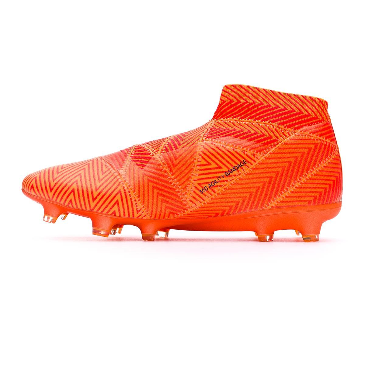 fab9b6828bce Football Boots adidas Nemeziz 18+ FG Zest-Black-Solar red - Football store  Fútbol Emotion