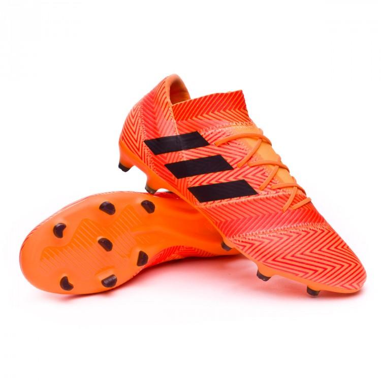 3526289991ba Boot adidas Nemeziz 18.2 FG Zest-Black-Solar red - Football store ...