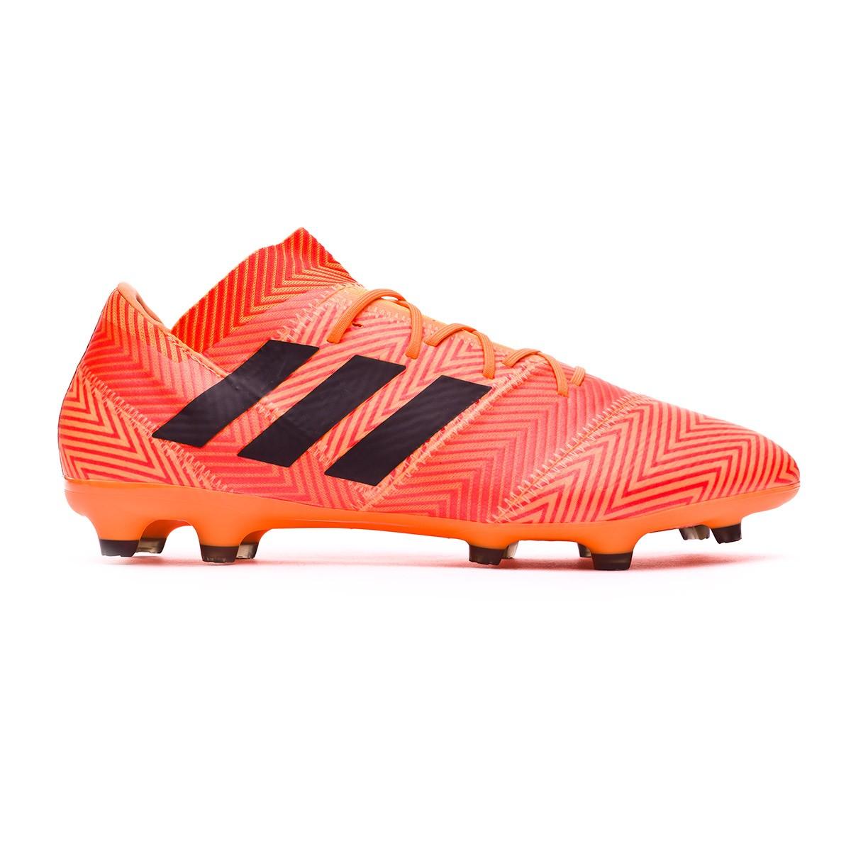 Zapatos de fútbol adidas Nemeziz 18.2 FG Zest-Black-Solar red -  Soloporteros es ahora Fútbol Emotion 86e5566cbb36e