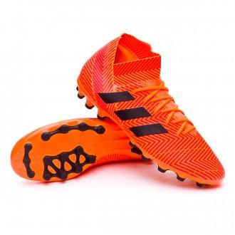 Chaussure de football  adidas Nemeziz 18.3 AG Zest-Black-Solar red