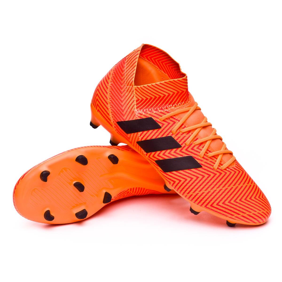 ee1224827409 adidas Nemeziz 18.3 FG Football Boots. Zest-Black-Solar red ...
