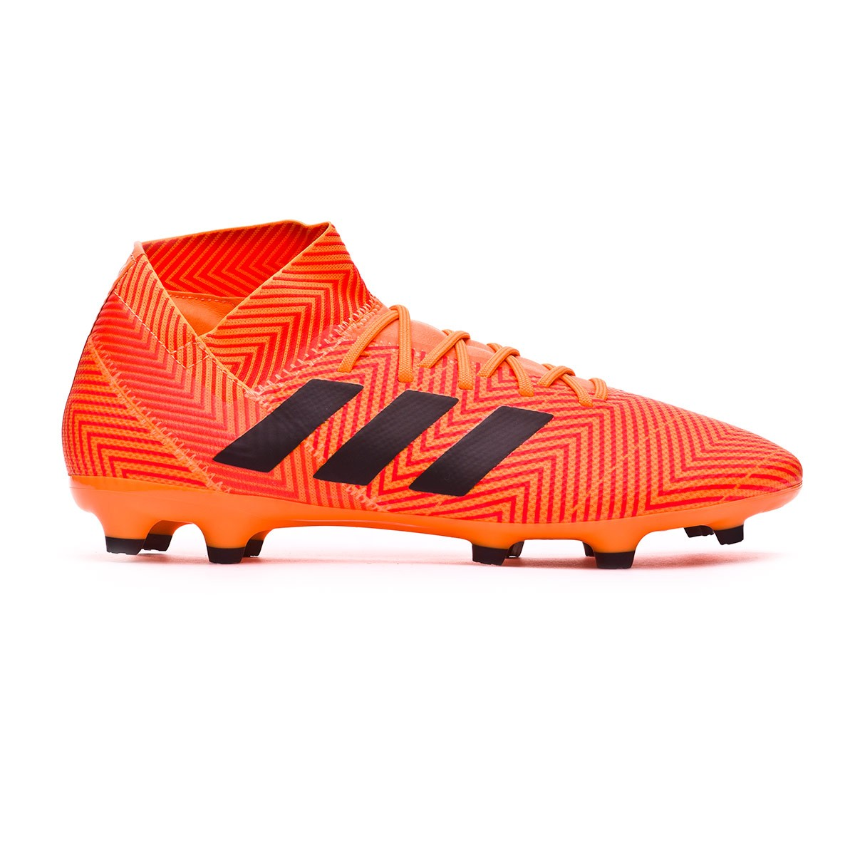 8a732b19f99ba Chuteira adidas Nemeziz 18.3 FG Zest-Black-Solar red - Loja de futebol  Fútbol Emotion