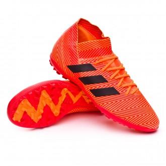 Sapatilha de Futsal  adidas Nemeziz Tango 18.3 Turf Zest-Black-Solar red
