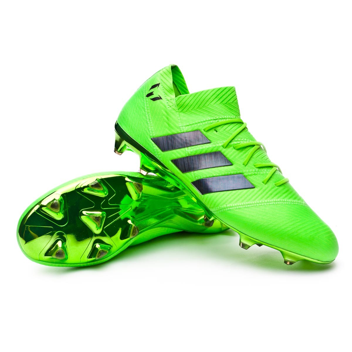 6e19a174e29 Football Boots adidas Nemeziz Messi 18.1 FG Solar green-Black ...