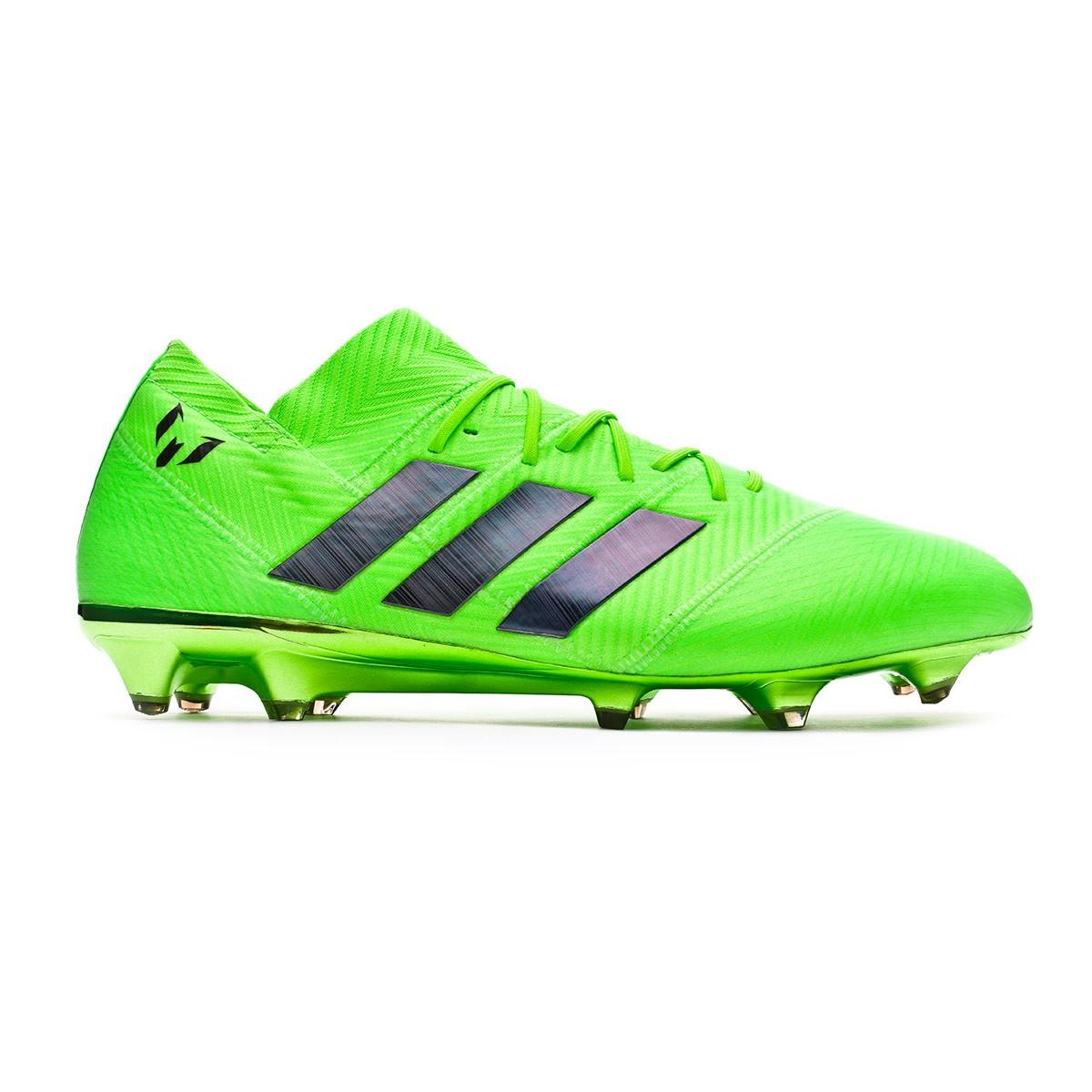 Black Zapatos Nemeziz De Fútbol Fg Green 18 Solar Adidas Messi 1 rECoWxBeQd