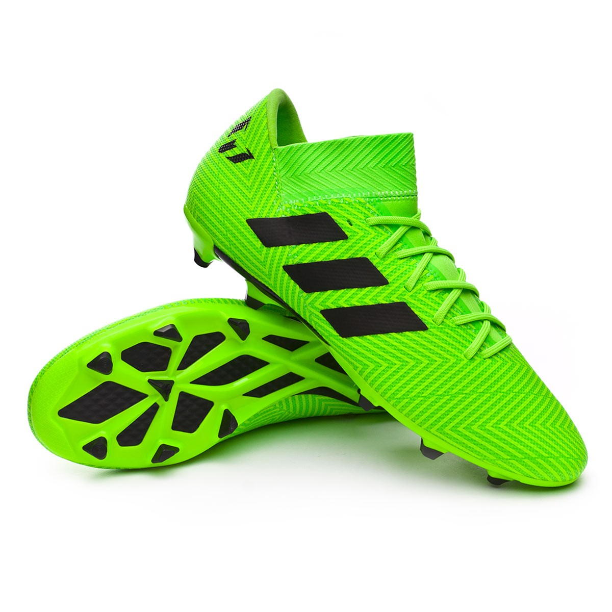 e1dafa628956 Football Boots adidas Nemeziz Messi 18.3 FG Solar green-Black ...