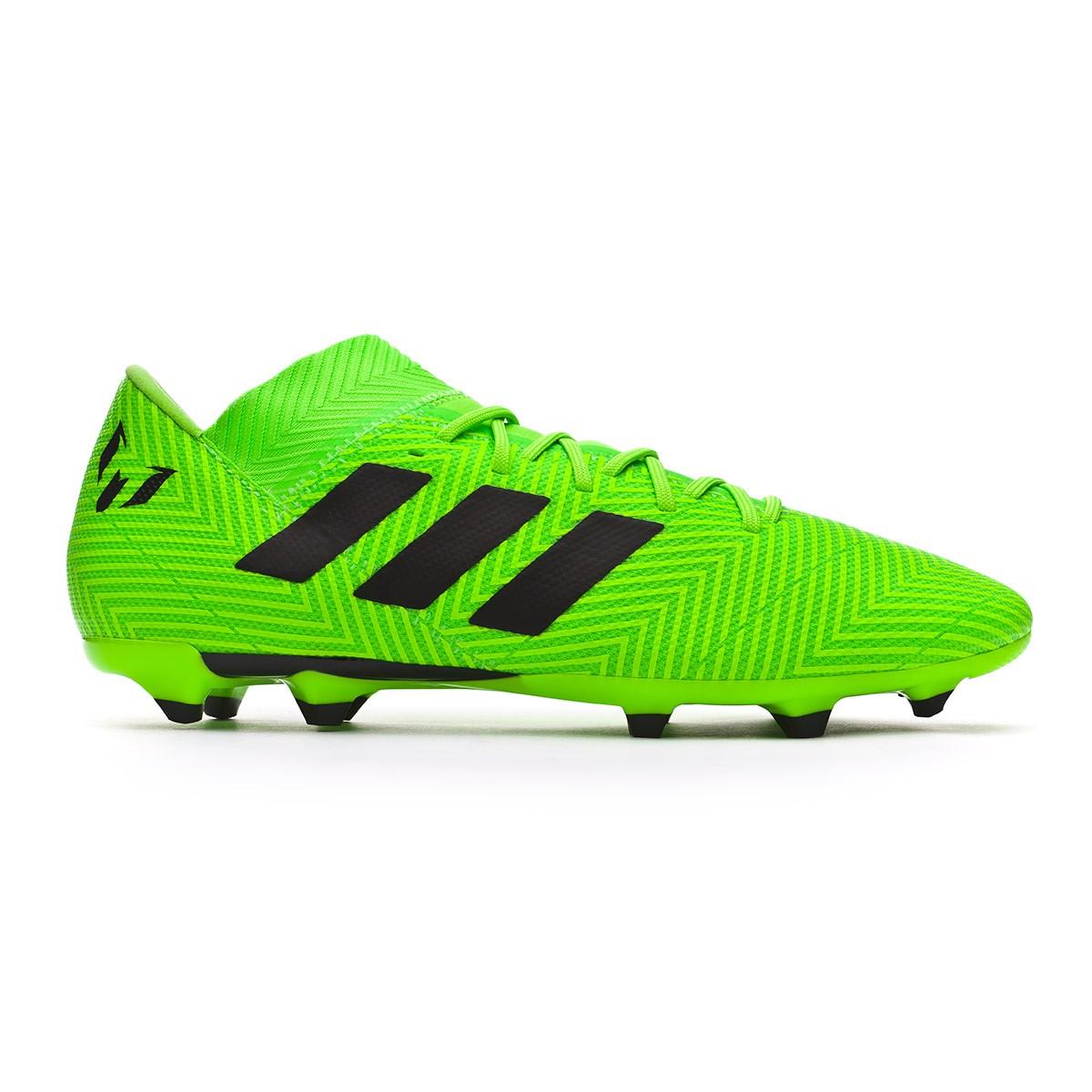24aa74e136d7 Football Boots adidas Nemeziz Messi 18.3 FG Solar green-Black - Tienda de  fútbol Fútbol Emotion