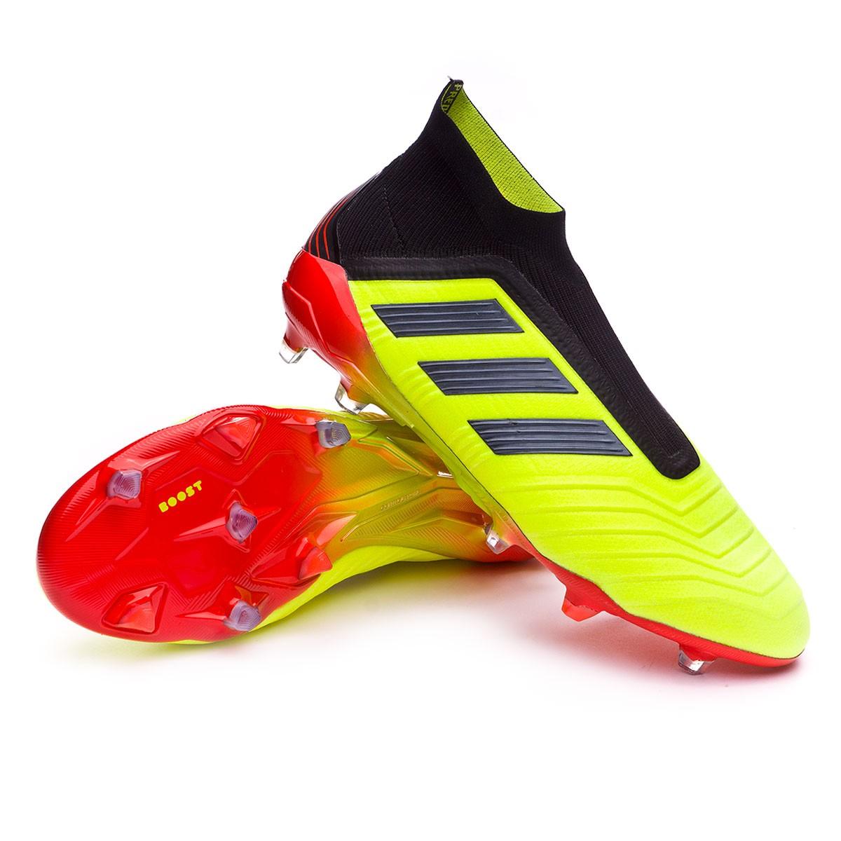 ddc14bed25f Football Boots adidas Predator 18+ FG Solar yellow-Black-Solar red ...