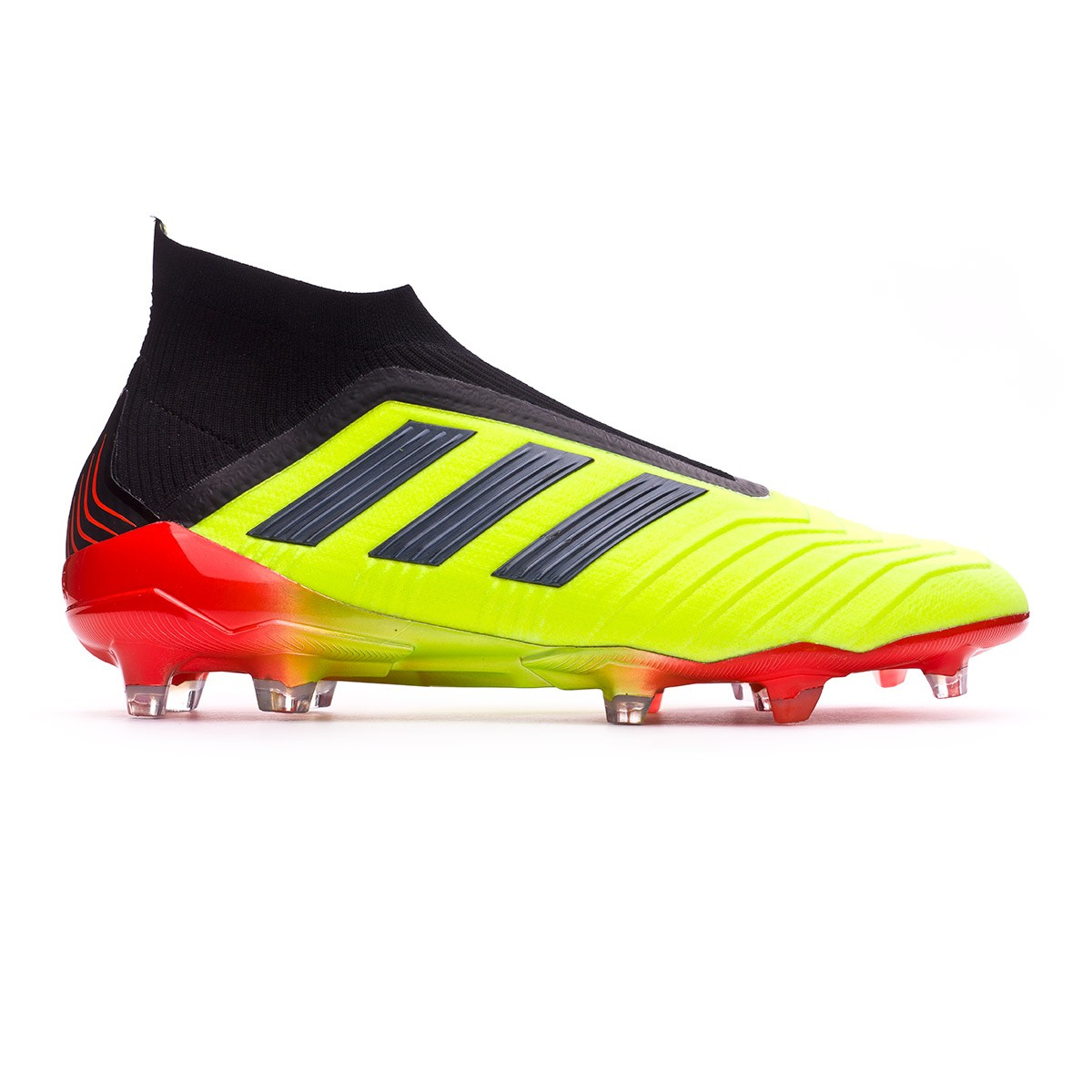 c05e6b3ed9d3 Football Boots adidas Predator 18+ FG Solar yellow-Black-Solar red - Tienda  de fútbol Fútbol Emotion