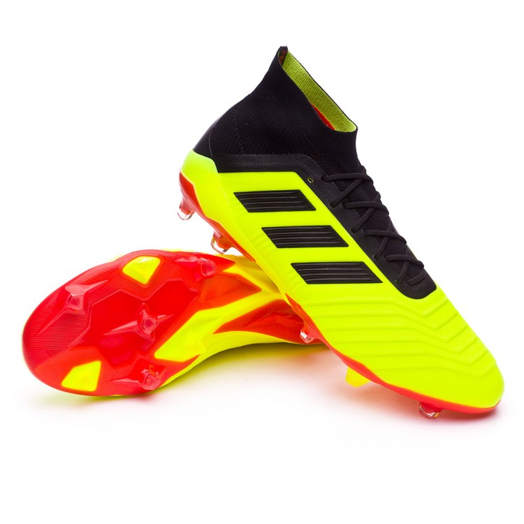 7e89bcc7a Football Boots adidas Predator 18.1 FG Solar yellow-Black-Solar red ...