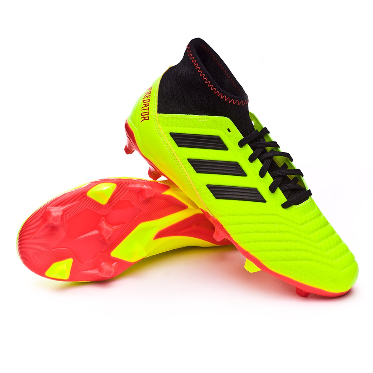 e03bf87a9538 Football Boots adidas Predator 18.3 FG Solar yellow-Black-Solar red ...