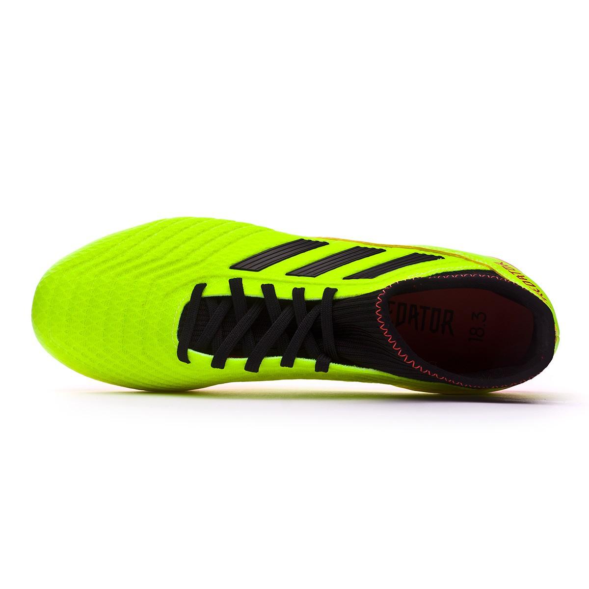 10f1ea3af253 Football Boots adidas Predator 18.3 FG Solar yellow-Black-Solar red -  Tienda de fútbol Fútbol Emotion