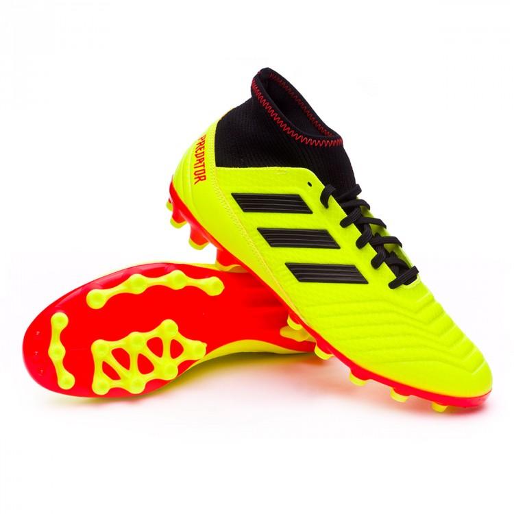 ebf6083888e69 Football Boots adidas Predator 18.3 AG Solar yellow-Black-Solar red ...