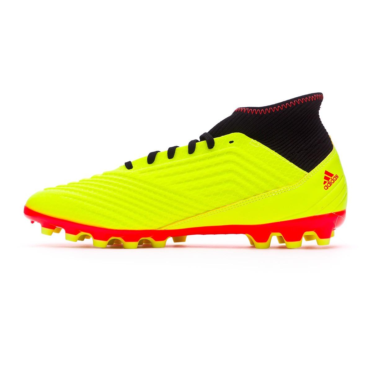 d794677fbdb Football Boots adidas Predator 18.3 AG Solar yellow-Black-Solar red -  Tienda de fútbol Fútbol Emotion
