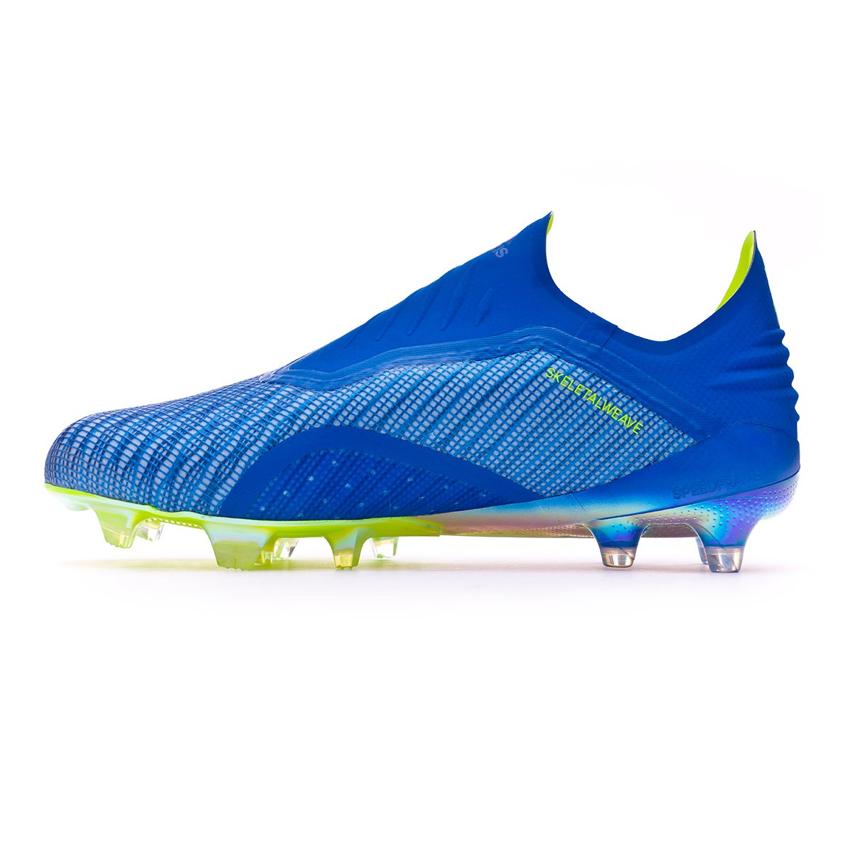 official photos 8ad61 470e5 Chaussure de foot adidas X 18+ FG Foot blue-Solar yellow-Black - Boutique  de football Fútbol Emotion