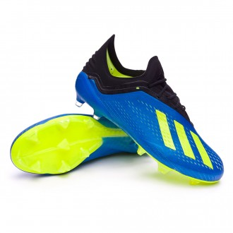 Bota  adidas X 18.1 FG Foot blue-Solar yellow-Black