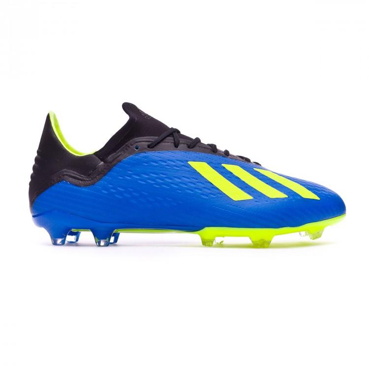 Bota de fútbol adidas X 18.2 FG Foot blue-Solar yellow-Black ... eec68bf7b5d47
