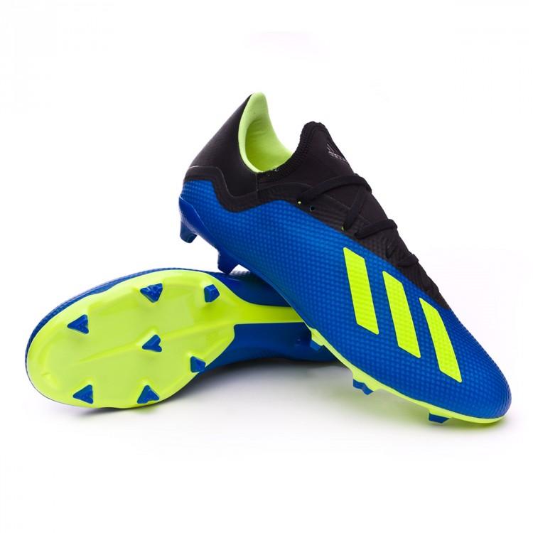 239dab0e35329 Bota de fútbol adidas X 18.3 FG Foot blue-Solar yellow-Black ...