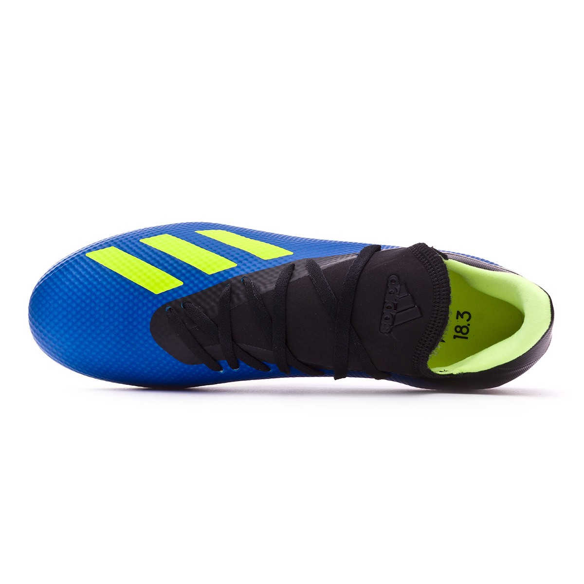 new concept d617d e79cb Scarpe adidas X 18.3 FG Foot blue-Solar yellow-Black - Negozio di calcio  Fútbol Emotion