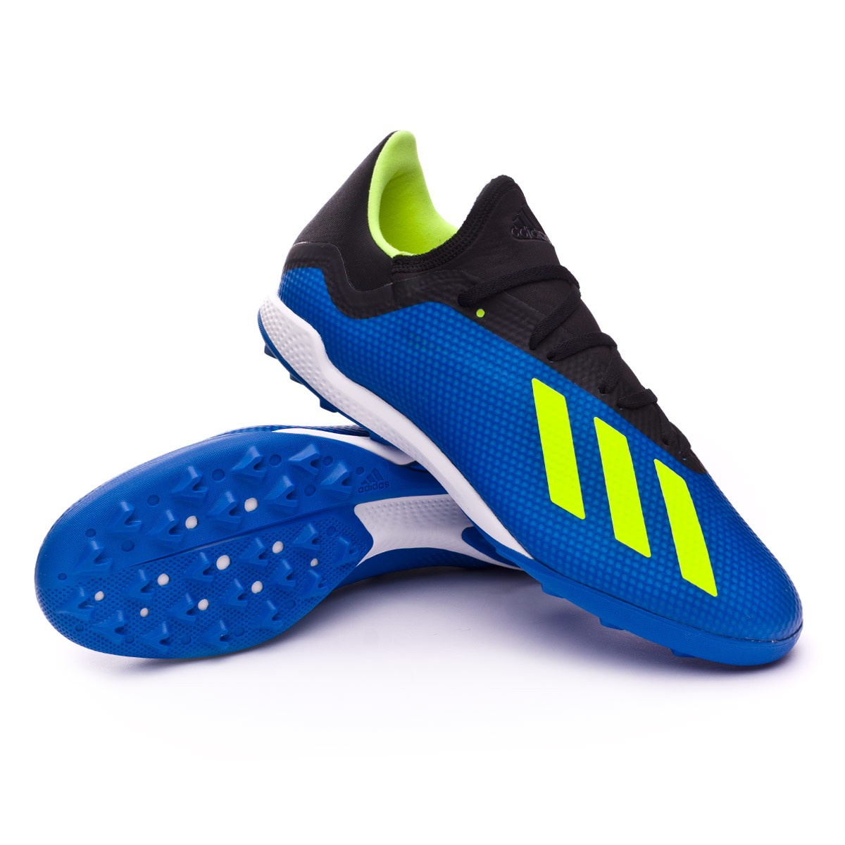 zapatilla adidas x tango 18 3 turf foot blue solar yellow black soloporteros es ahora f tbol. Black Bedroom Furniture Sets. Home Design Ideas
