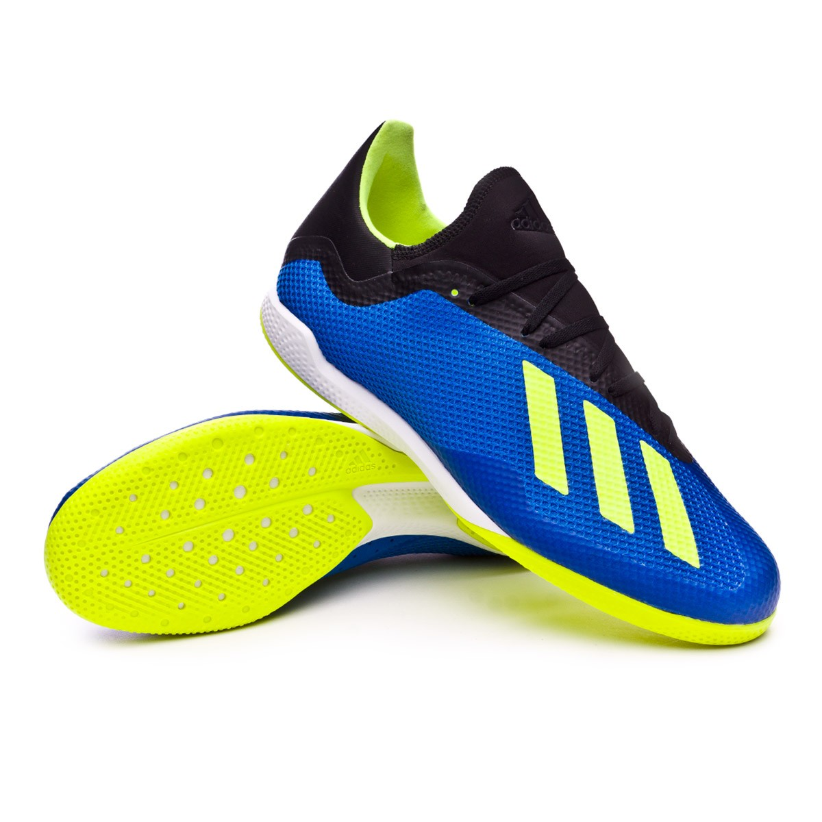 636a90e67267 Futsal Boot adidas X Tango 18.3 IN Foot blue-Solar yellow-Black - Football  store Fútbol Emotion