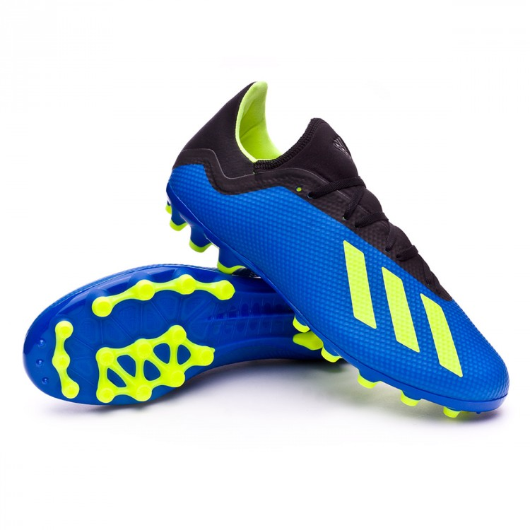 Bota X 18.3 AG Foot blue Solar yellow Black