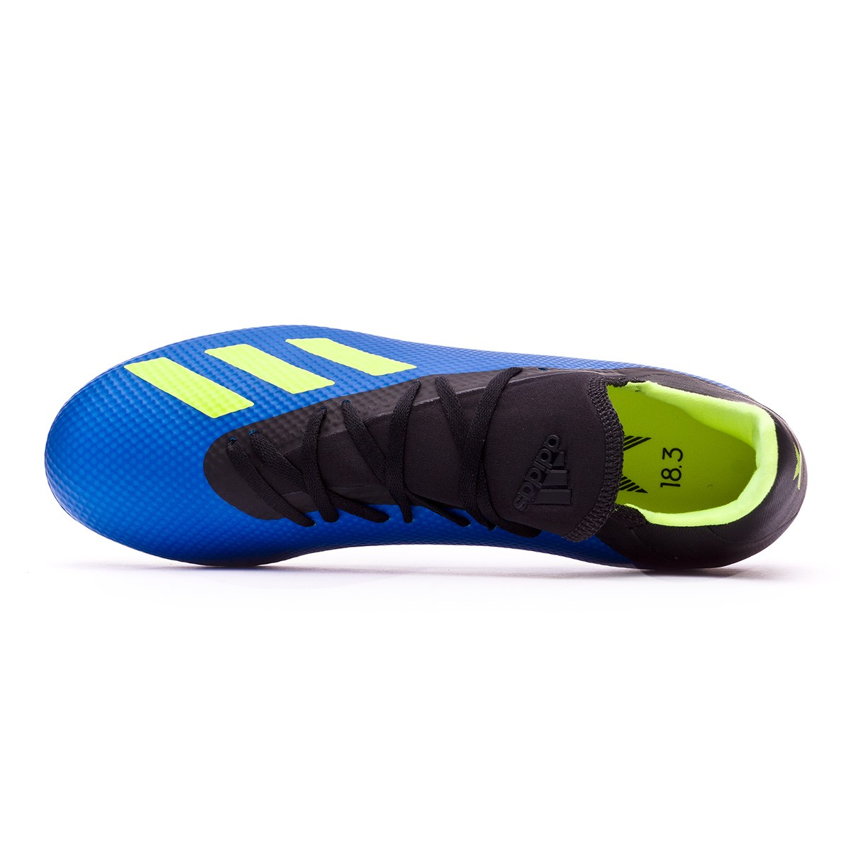 new styles a1789 97091 Boot adidas X 18.3 AG Foot blue-Solar yellow-Black - Football store Fútbol  Emotion