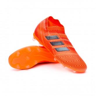 Bota  adidas Nemeziz 18+ FG Niño Zest-Black-Solar red
