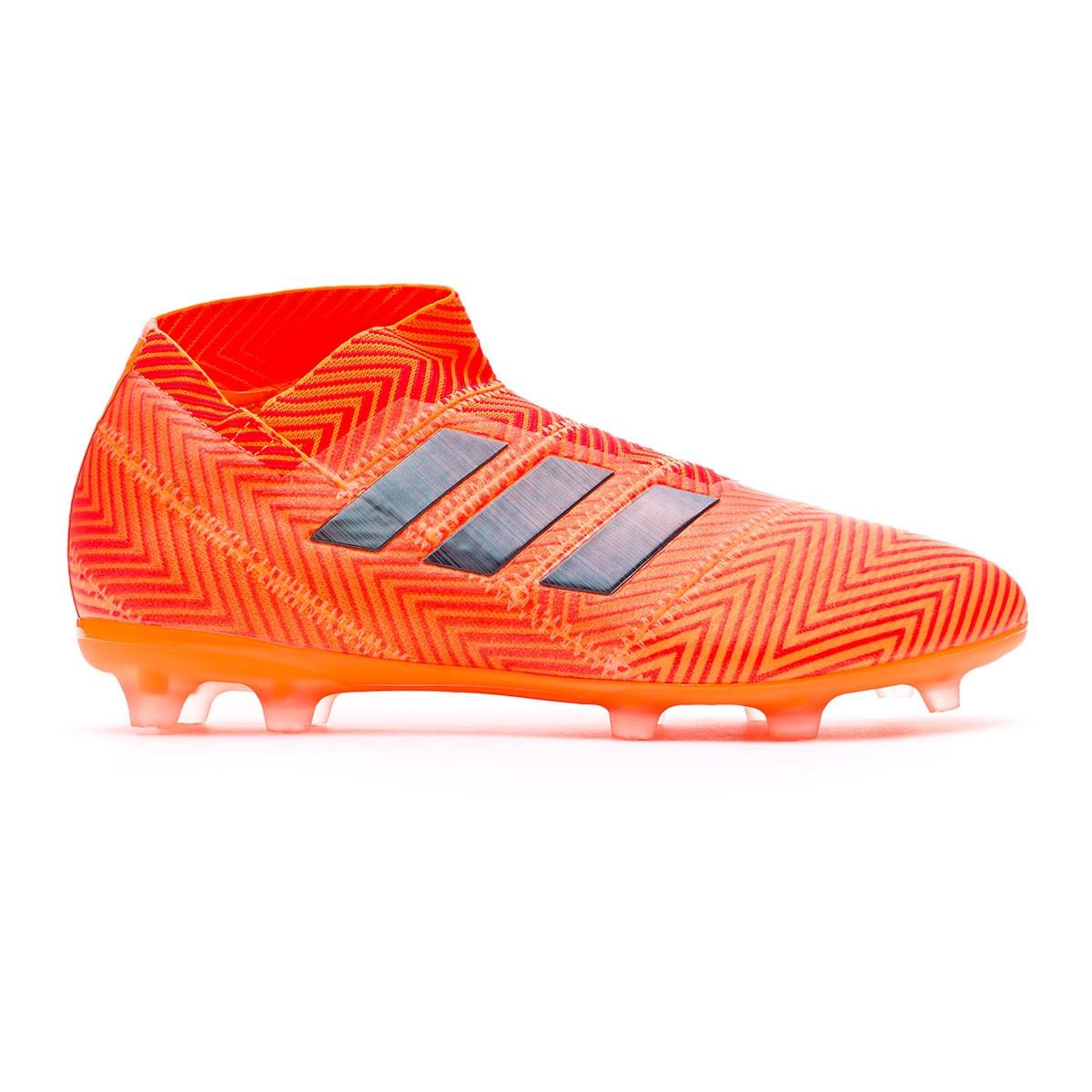 huge discount cb97d e7a00 Boot adidas Kids Nemeziz 18+ FG Zest-Black-Solar red - Leake