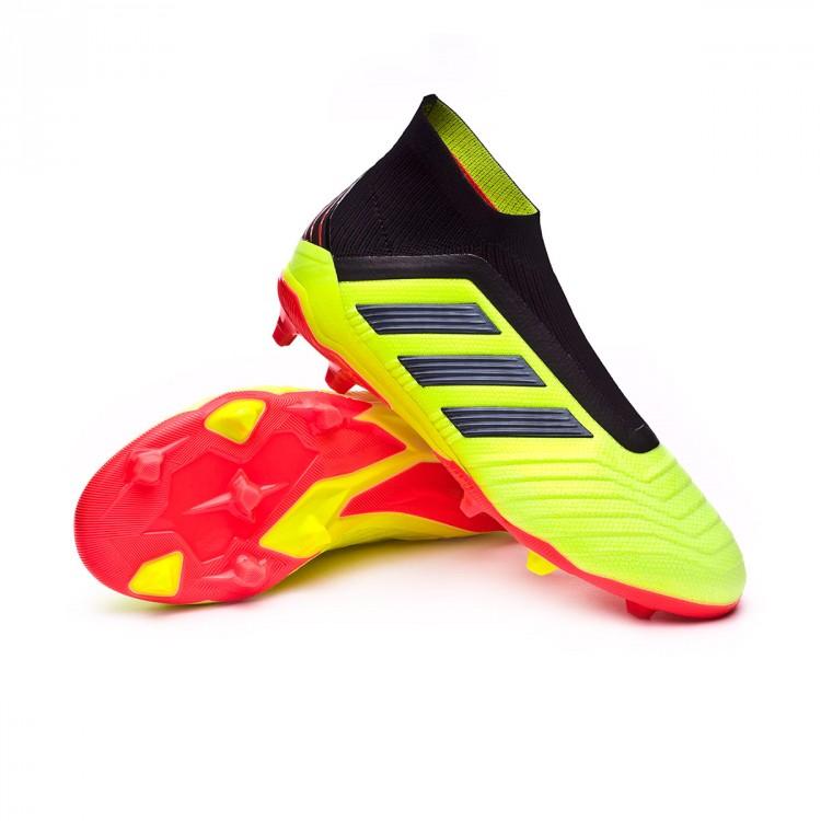 bea991c85071 Football Boots adidas Kids Predator 18+ FG Solar yellow-Black-Solar ...