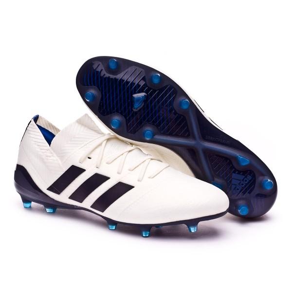 best service 30d3f 83ab5 Boot adidas Woman Nemeziz 18.1 FG Off white-Legend ink-Hire blue - Football  store Fútbol Emotion
