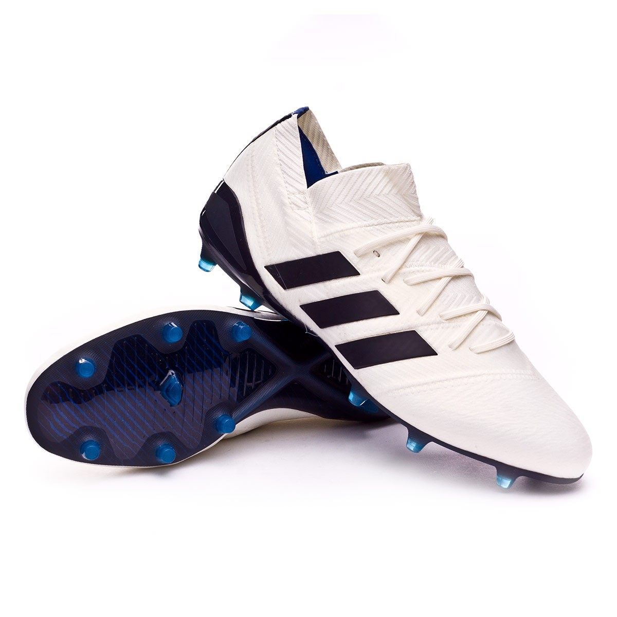 9e71a4a7dac8 Football Boots adidas Woman Nemeziz 18.1 FG Off white-Legend ink ...