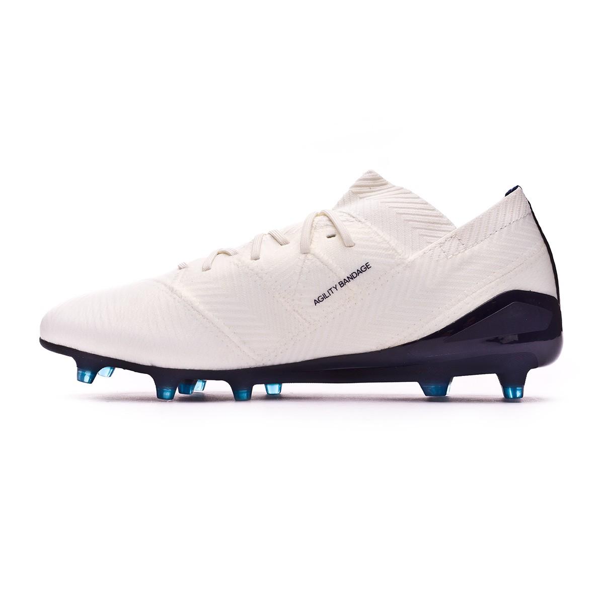 bf16adeee421 Football Boots adidas Woman Nemeziz 18.1 FG Off white-Legend ink-Hire blue  - Football store Fútbol Emotion