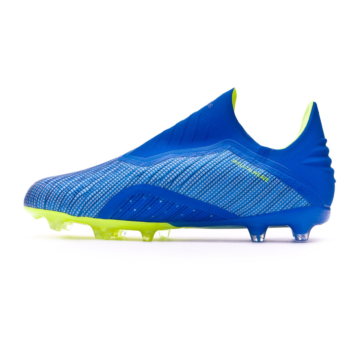 e65f2b20f1a Football Boots adidas Kids X 18+ FG Foot blue-Solar yellow-Black - Tienda  de fútbol Fútbol Emotion