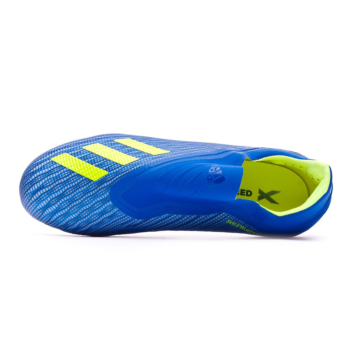 the best attitude ac7f8 15904 Boot adidas Kids X 18+ FG Foot blue-Solar yellow-Black - Tienda de fútbol  Fútbol Emotion