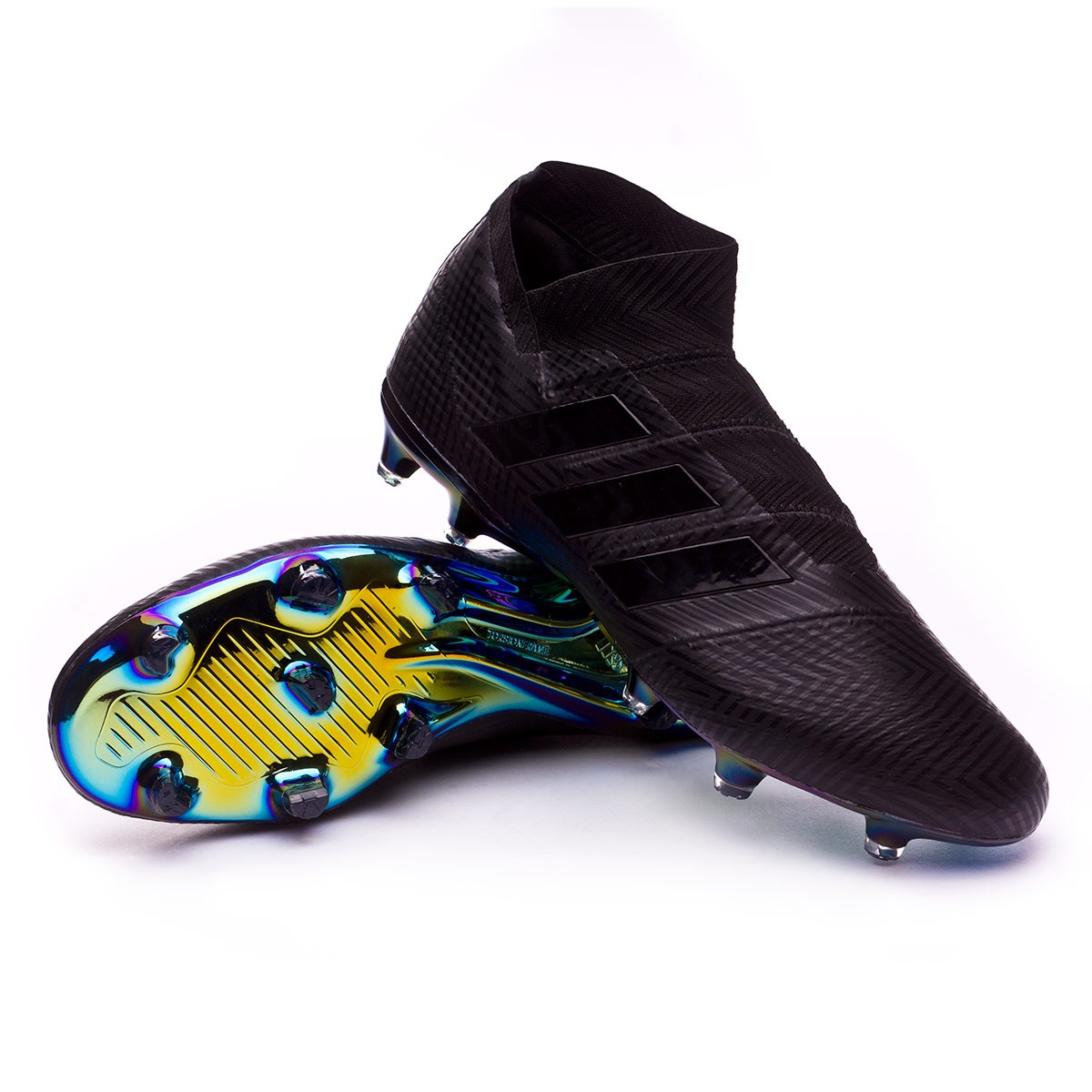 079f7284f773 Football Boots adidas Nemeziz 18+ FG Core black-White - Football ...
