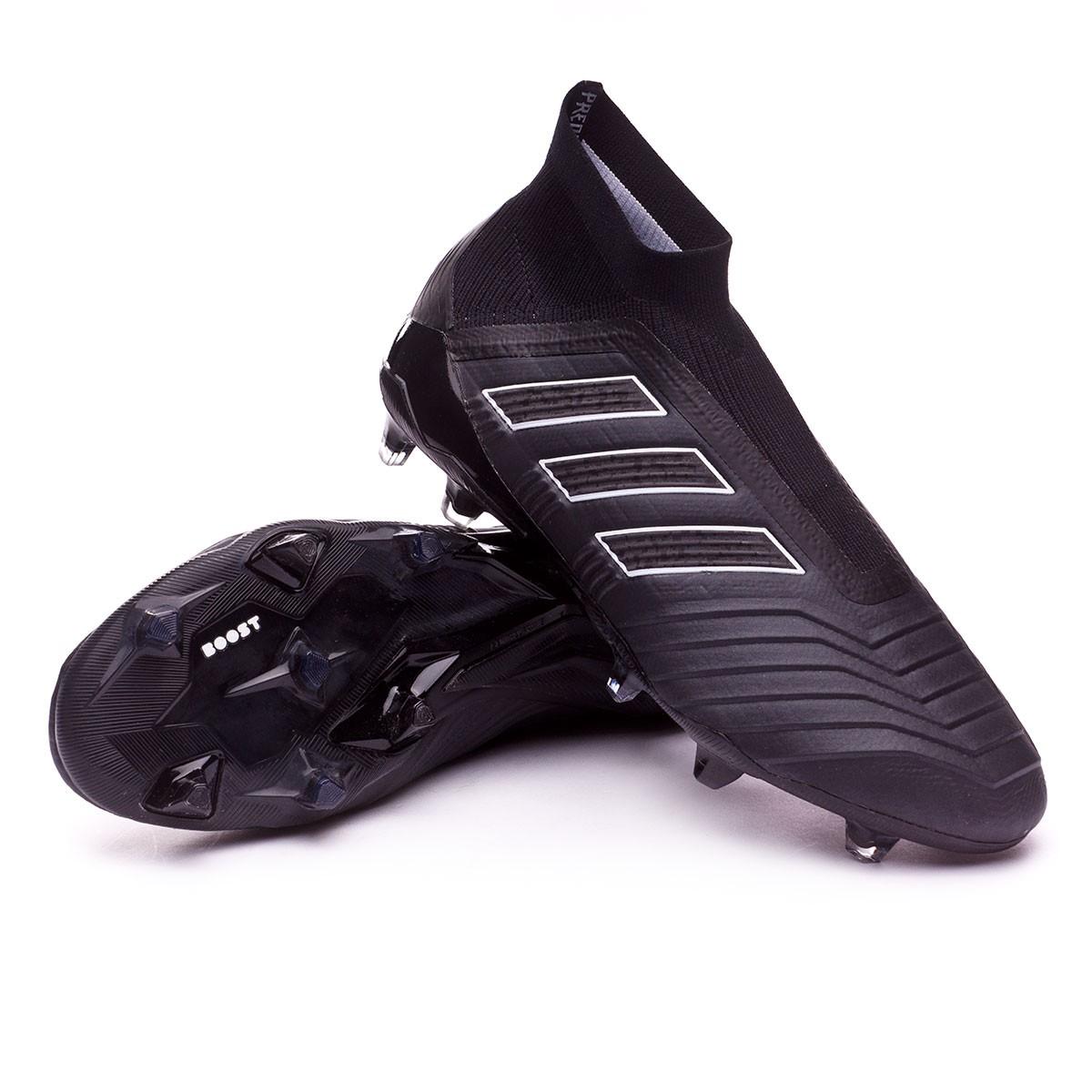 50013c79bf5f1 Chuteira adidas Predator 18+ FG Core black-White - Loja de futebol ...