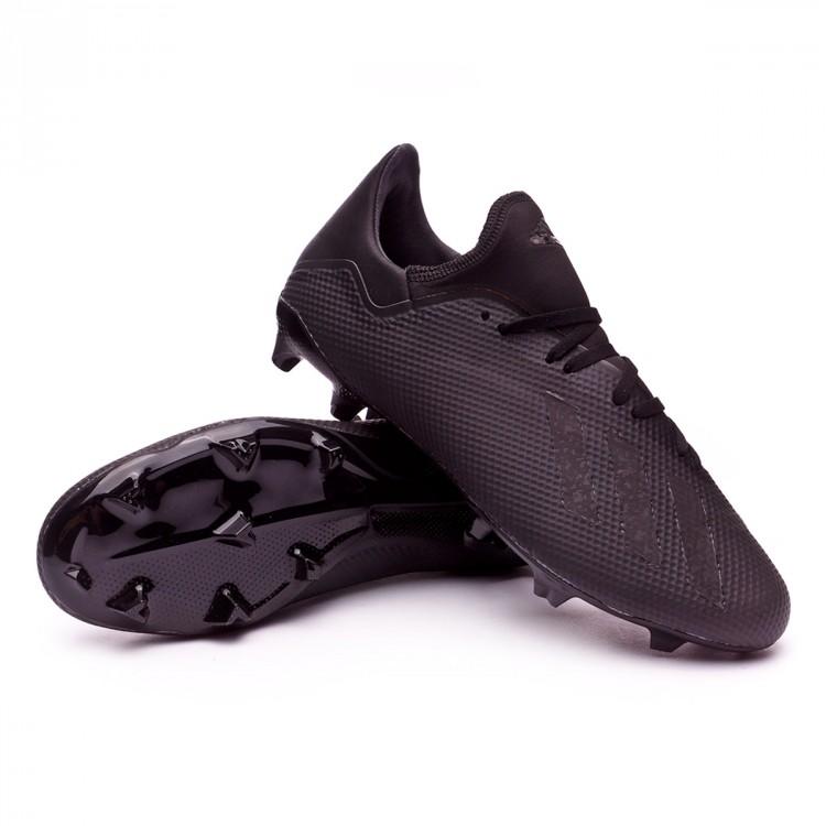 2e4edca731cc8 Chuteira adidas X 18.3 FG Core black-White-Solid grey - Loja de ...