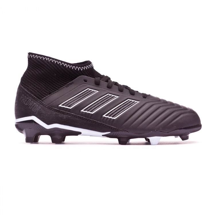 Niño Bota Fútbol Black White Fg Adidas Predator 18 Core De 3 wPX0O8nk