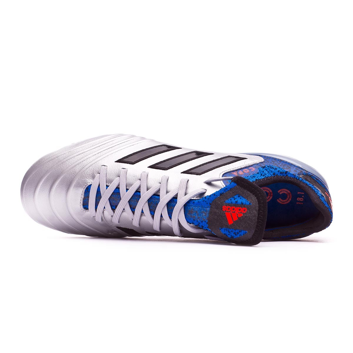 newest d71ec f9422 Boot adidas Copa 18.1 FG Silver metallic-Core black-Football blue - Football  store Fútbol Emotion