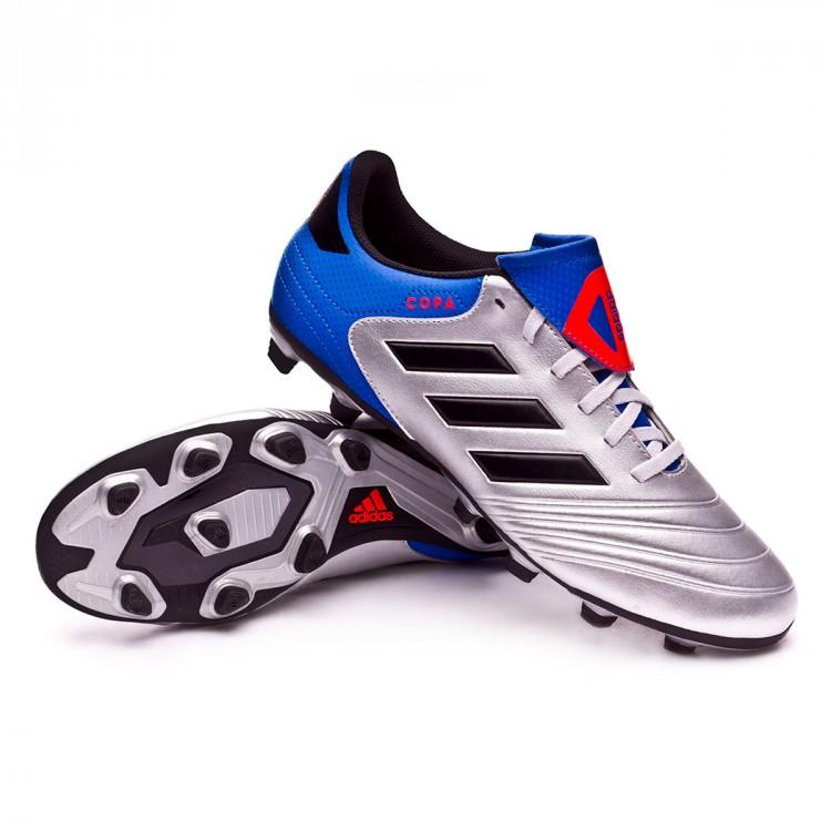 huge selection of 510dc 72eee bota-adidas-copa-18.4-fxg-silver-metallic-core-