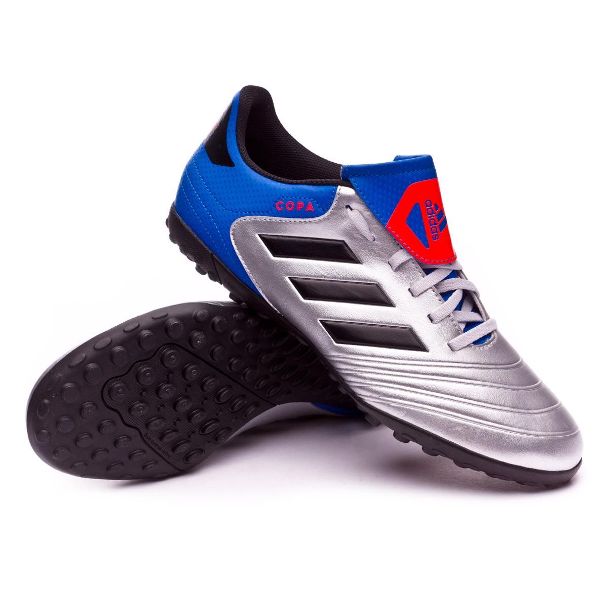 size 40 f5ebb 0f677 adidas Copa Tango 18.4 Turf Football Boot. Silver metallic-Core black-Football  blue ...