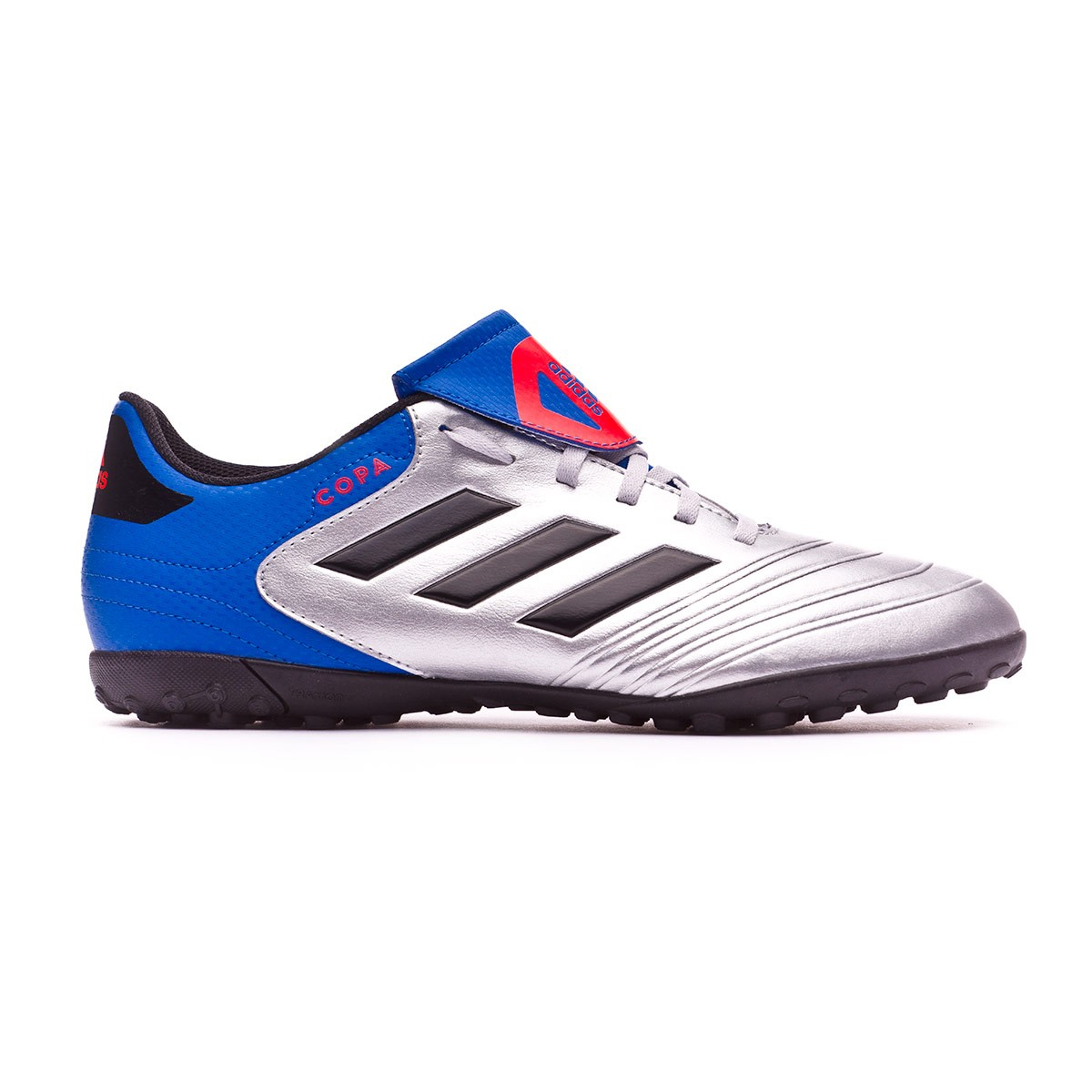competitive price cffef 092cf Football Boot adidas Copa Tango 18.4 Turf Silver metallic-Core  black-Football blue - Leaked soccer