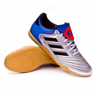 Futsal Boot  adidas Copa Tango 18.4 IN Silver metallic-Core black-Football blue