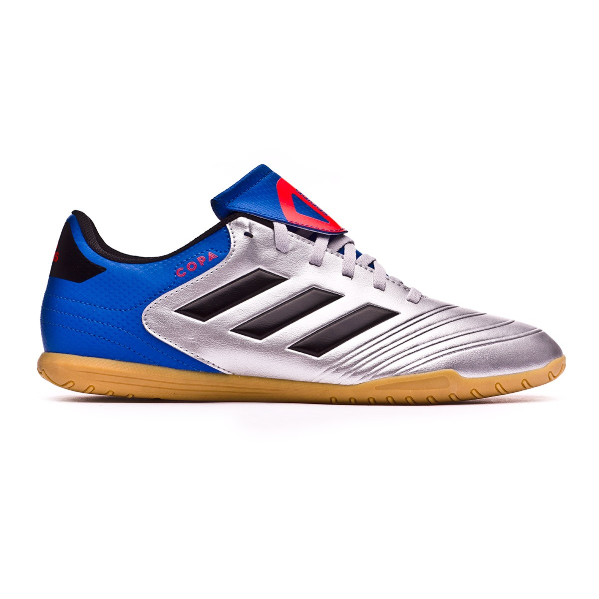 size 40 f3746 c1ae0 Futsal Boot adidas Copa Tango 18.4 IN Silver metallic-Core black-Football  blue - Football store Fútbol Emotion
